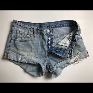 Levi's button down shorts